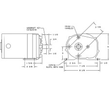 1/4 hp 60 RPM 115V Dayton AC Parallel Shaft Gear Motor