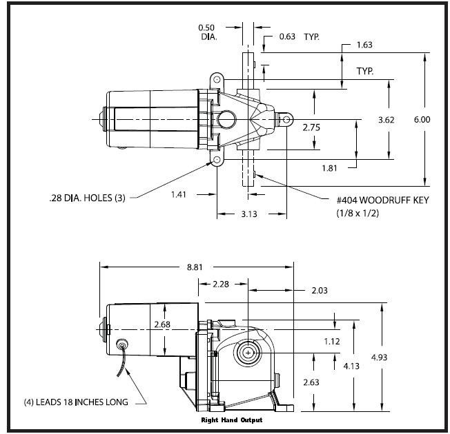 dayton model 1lra4 ac dc left hand gearmotor 8 rpm 1 15 hp 115vac rh electricmotorwarehouse com 230 Single Phase Wiring Diagram Dayton 2X441 Wiring-Diagram