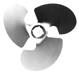 "Century Unit Bearing Aluminum Fan Blade 4 Watt, 7.75"" Diameter, Suction # 2256"