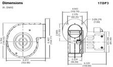 Dayton Model 1TDP3 Blower 75 CFM 3016 RPM 115V 60/50hz (4C443)