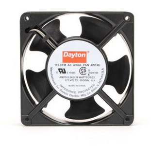 Dayton Axial Fan 115 Volts AC; 20 Watts; 115 CFM; Model 4WT46