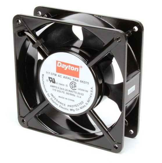 Dayton Axial Fan 115 Volts Ac  20 Watts  117 Cfm  Model 6kd75