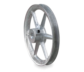 "6.00"" x 1/2"" Single Groove Fixed Bore Die Cast Pulley"