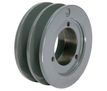 "3.55"" OD Double Groove ""H"" Pulley (bushing not included) # 2BK34H"