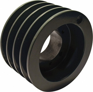 "3.65"" OD Four Groove Pulley / Sheave for 3V Style V-Belt (bushing not included) # 4-3V365-SH"