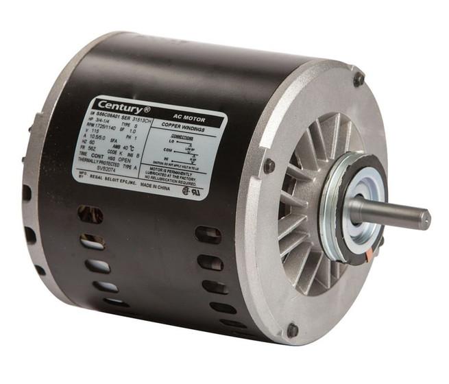 evaporative cooler motor 3 4hp 1725 rpm 2 speed 56z frame. Black Bedroom Furniture Sets. Home Design Ideas