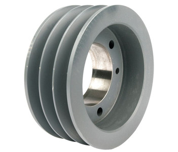 "4.40"" OD Three Groove Pulley / Sheave for 5V Style V-Belt (bushing not included) # 3-5V440-SDS"