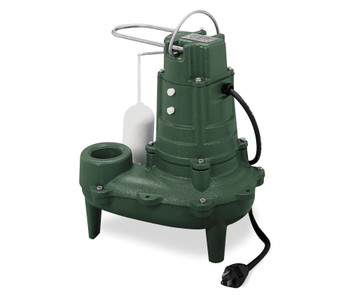 ZOELLER Sewage Pump 1/2 hp 115 Volts Model # M267