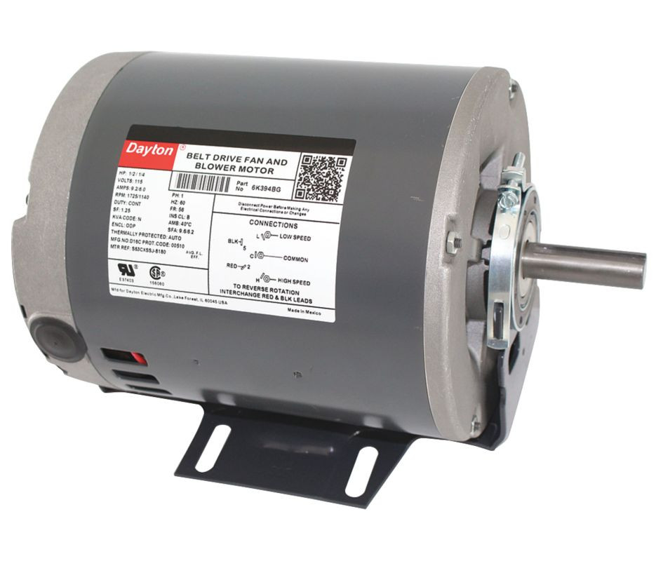 Single phase induction motor further wood stove blower motor wiring 1 2 hp 1725 rpm 2 speed 115v whole house fan motor dayton 6k394 rh electricmotorwarehouse cheapraybanclubmaster Choice Image