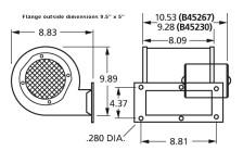 Centrifugal Blower 115 Volts 2-Speed Fasco # B45267