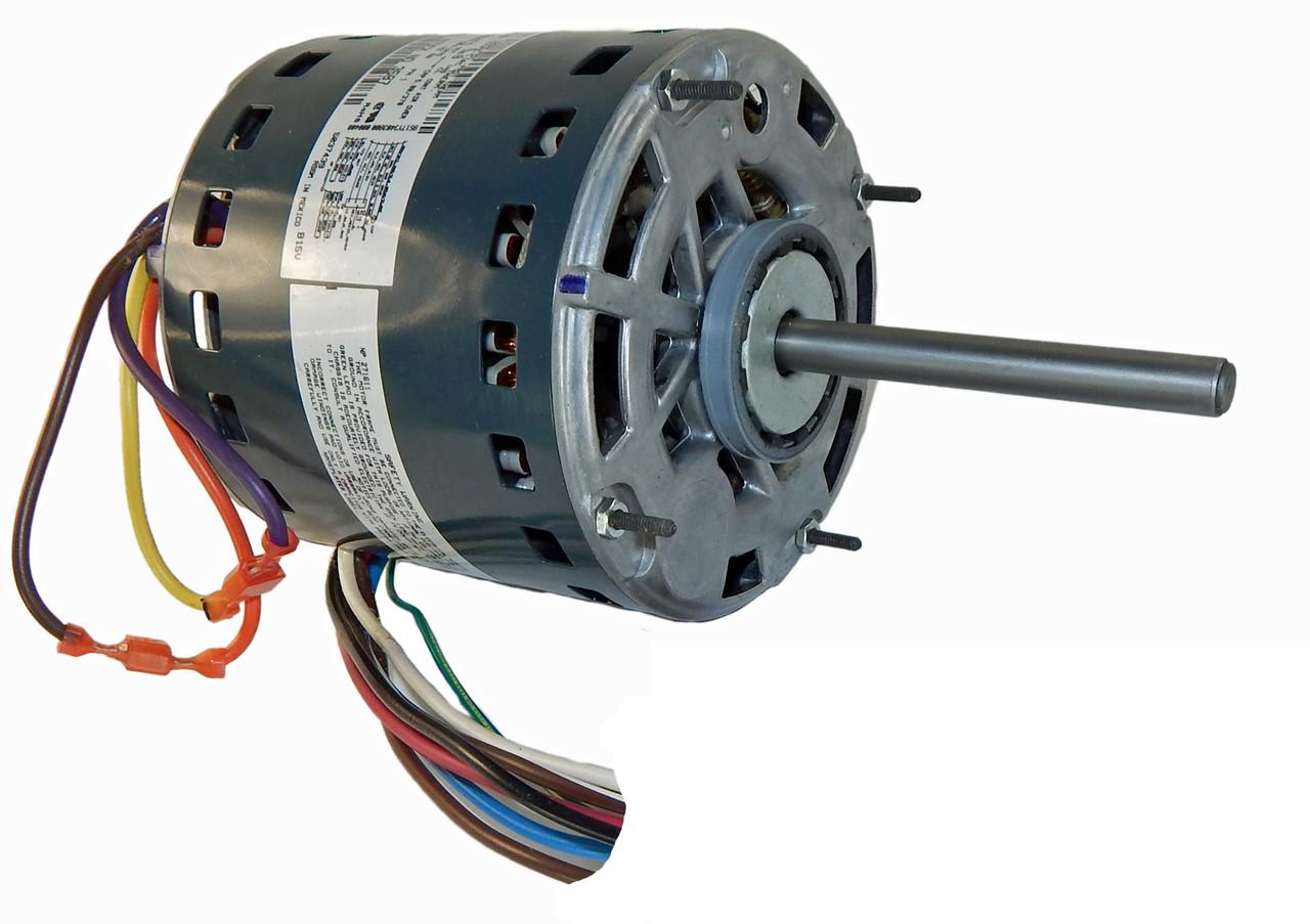 1 2 hp 1075 rpm 3 speed 115v furnace motor 5kcp39pgn655s genteq g3587 rh electricmotorwarehouse com Fasoc Single Phase Motor Wiring Diagram genteq x13 motor wiring diagram