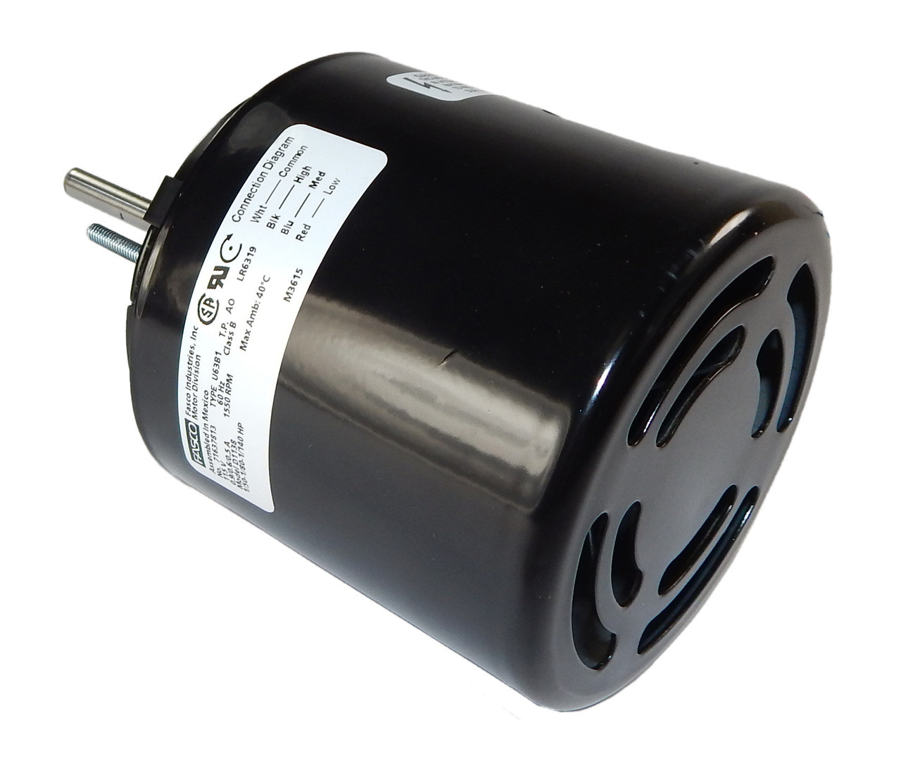1/50 hp 1550 RPM 3-Speed CW 3.9\