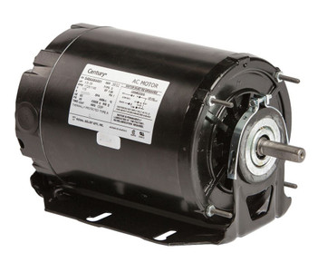 1/3 hp 1725 RPM 2-SPD 48Z Frame 115V Belt Drive Blower Motor Ball Brg Century # 925L