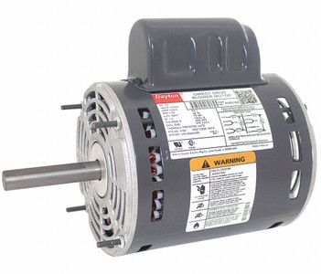 1/2 HP Direct Drive Blower Motor 1100 RPM 115/230V Dayton # 4HZ61