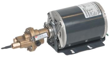 "Rotary Gear Bronze Pump - Carbonator Mount - with 1/2hp motor 3/8"" port size Bronze # 41TK27"