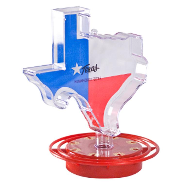 Plastic Hummingbird Feeder Texas Shape 22 oz