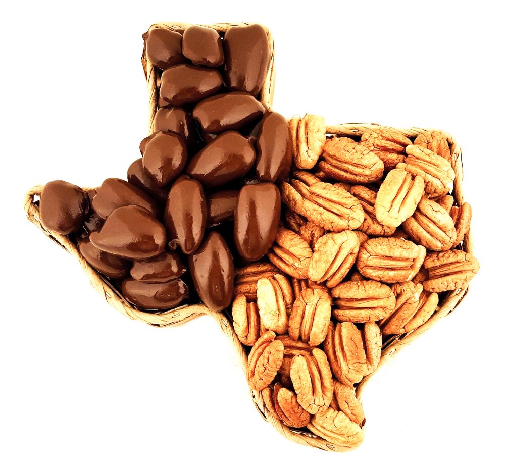 Texas Shaped Pecan Gift Basket   Pecans.com