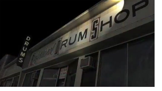 Pro Drum Shop at Night