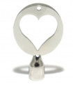 Heart Drum Key, Stainless Steel