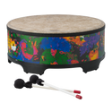"Remo Drum, KIDS PERCUSSION¨, Gathering Drum, 18"" Diameter, 21"" Height, Fabric Rain Forest"
