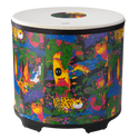 "Remo Drum, KIDS PERCUSSION¨, Gathering Drum, 22"" Diameter, 21"" Height, COMFORT SOUND TECHNOLOGY¨ Head, Fabric Rain Forest"