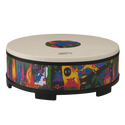 "Remo Drum, KIDS PERCUSSION¨, Gathering Drum, 22"" Diameter, 8"" Height, COMFORT SOUND TECHNOLOGY¨ Head, Fabric Rain Forest"