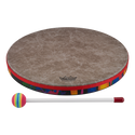 "Remo Drum, KIDS PERCUSSION¨, Hand Drum, 14"" Diameter, 1.25"" Depth, Fabric Rain Forest"