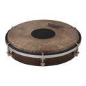 """REMO Tablatone Frame Drum, Tunable, SKYNDEEP¨ P3 Drumhead, 'Fish Skin' Graphic, Tablatone Dot, 8"""" x 2"""", Antique Brown And White Finish"""