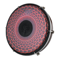 """REMO Tablatone Frame Drum, Tunable, SKYNDEEP¨ Clear Tone P3 Drumhead, 'Red Radial Flare' Graphic, Tablatone Dot, 10"""" x 2"""", Antique Brown And White Finish"""
