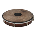 """REMO Tablatone Frame Drum, Tunable, SKYNDEEP¨ P3 Drumhead, 'Fish Skin' Graphic, Tablatone Dot, 10"""" x 2"""", Antique Brown And White Finish"""
