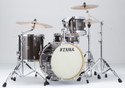 "Tama Superstar Classic 4pc 18""BD Jazz shell kit 14x18, 8x12, 14x14, 5x14 with single tom holder in Midnight Gold Sparkle"