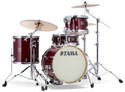 "Tama Superstar Classic 4pc 18""BD shell kit 14x18, 8x12, 14x14, 5x14 with single tom holder in Classic Cherry Wine"