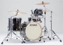 "Tama Superstar Classic 4pc 18""BD shell kit 14x18, 8x12, 14x14, 5x14 with single tom holder in Transparent Black Burst"