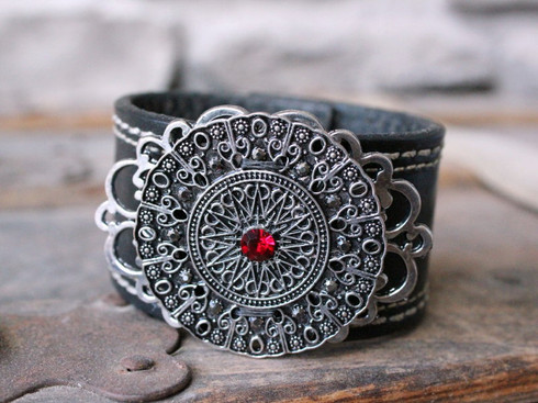 Sundial Leather Cuff