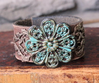Forgotten Garden Leather Cuff