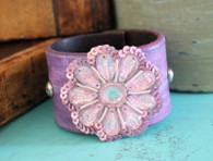 Gypsy Diva Leather Cuff