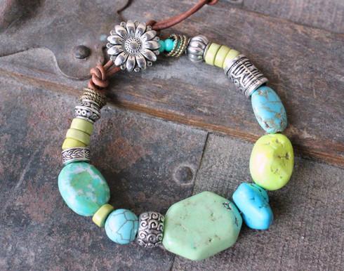Turquoise Mix Gypsy Bracelet
