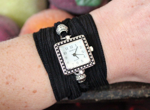Ribbon Wrap Watch Square