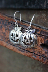 Pumpkin Jack O'Lantern Halloween Earrings