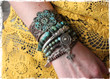 As Seen In Vogue Magazine - Turquoise Boho Bracelet Stack (Double) - Includes 4 Bracelets - www.everdesigns.com