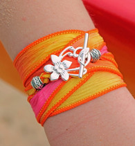 Maui - Silk Ribbon Wrap Bracelet