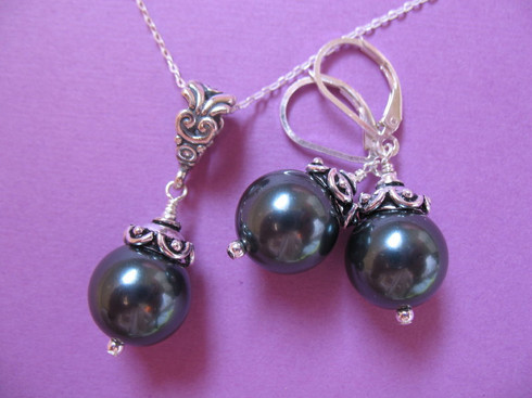 Tahitian Pearls Set Ever Designs Jewelry