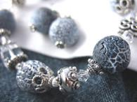 Blue Lava Rock Bracelet