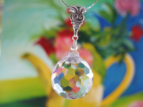 Crystal Golf Ball Necklace by Ever Designs Jewelry