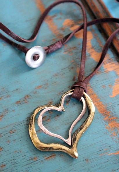 "Double Heart Bohemian Necklace ""Lover Boy"""
