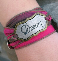 Dream - Silk Ribbon Wrap Bracelet