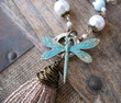Long Tassel Dragonfly Necklace