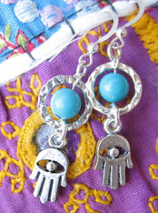 Hamsa Hand Bohemian Earrings