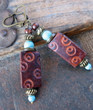 Boho Leather Earrings Django