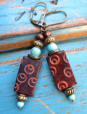 Boho Leather Earrings Django